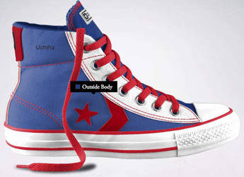 Sasuke Uchiha Shoe Design by ngefan1989