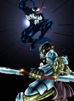 Venom Vs. Predator color by SquallLeonhart245