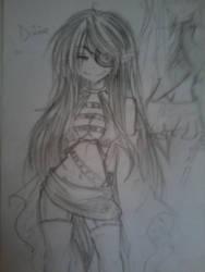 Divine Zetsumei -Alternate outfit Sketch by TsundereLen