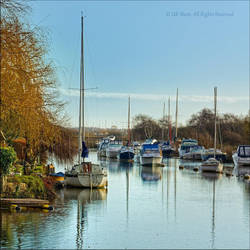 Boats on Wareham River, Dorset by UK-Shots