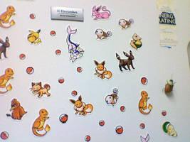 Pokemon on my fridge by Alecat