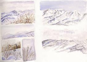 Views from Tsugaike Kogen by Alecat