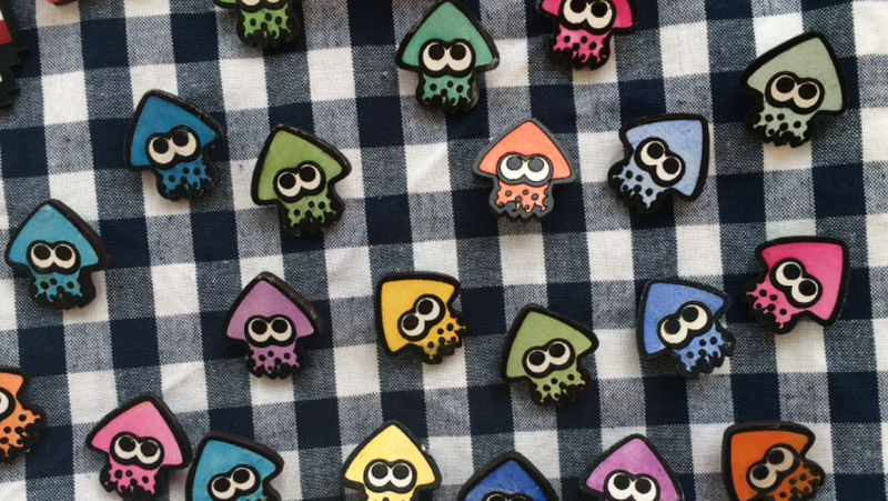 Inkling Squid Brooch Pins by Alecat