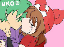 May and Drew kiss by pokefanJess