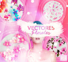 + VECTORES FLORALES! by swxt-moon