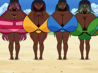 Beach Sisters by goron44