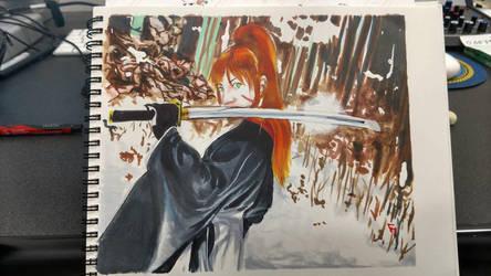 Kenshin Copysan by lionbrowneyes