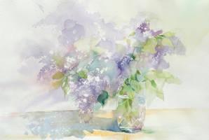 Fiolet pachnie cudnie! by Akwarela