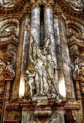 Prague - Interior of Church of St Nicholas I by pingallery
