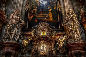 Prague - Interior of Church of St Nicholas II by pingallery