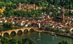 Castle Ruins and Old Bridge in Heidelberg by pingallery