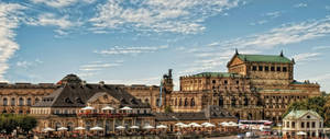 View of the Semper Opera in Dresden by pingallery