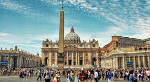 St. Peters Square in Rome - color by pingallery
