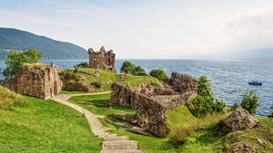 Scotland - Ruins of Urquhart Castle by pingallery