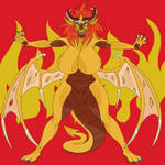 MalMary the Busty Dragon Bitch by CreatureUnderTheBed