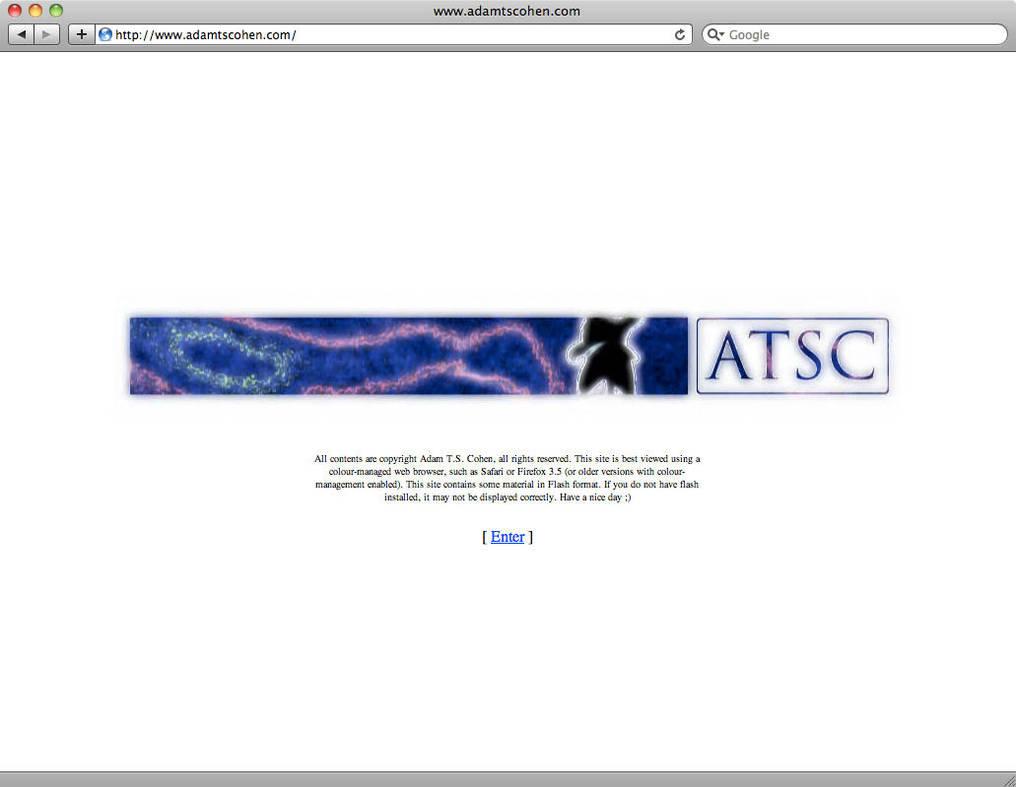 adamtscohen.com Splash Screen by AdamTSC