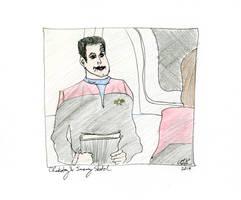 Chakotay and Janeway Sketch by AdamTSC