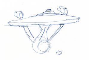 Enterprise Sketch by AdamTSC
