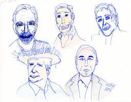 Trek People Sketches by AdamTSC