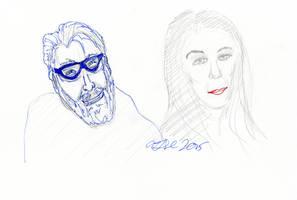 Trek Actors Sketch by AdamTSC
