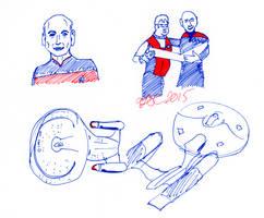 Captains and Enterprises Sketch by AdamTSC