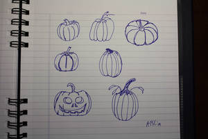 Pumpkins October Sketches by AdamTSC