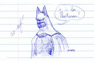Batman Quick Sketch No Ref by AdamTSC