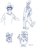 Pre-Blog Sketchbook Composite Page by AdamTSC