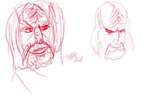 Klingon Sketches by AdamTSC