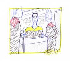 Tuvok, Janeway and Chakotay on the Bridge by AdamTSC