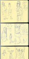 Saturday Evening Sketches (no ref) by AdamTSC