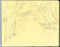 Forest Path Sketch by AdamTSC