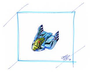 Blue Falcon (F-Zero SNES) by AdamTSC