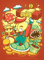 Brain Mario by anggatantama