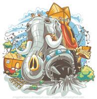 Lucy the Elephant by anggatantama by anggatantama