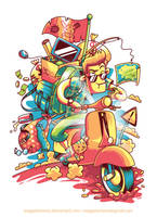 A Long Journey with my beloved Vespa by anggatantama