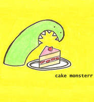 Hungry monster by cake-monsterr