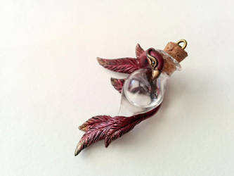 Tears of the Phoenix - handsculpted pendant by RegnumLaternis