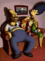 Simpsons by porkcow