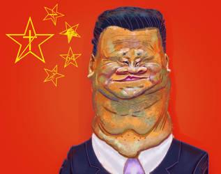 Xi Jinping by porkcow