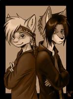 Ray and Spike by oomizuao