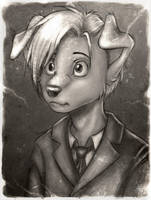 portrait of young Saunders by oomizuao