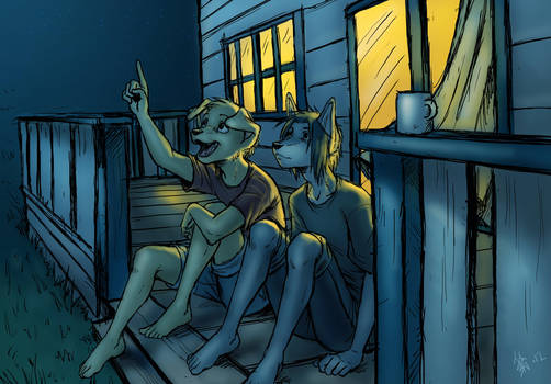 Sam and Spike - Stargazing by oomizuao