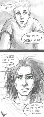 Spike and Sam - Green Eyes by oomizuao