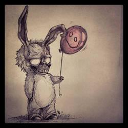 FANART--Frank The Bunny- by oomizuao