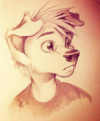 sketch dec25th2013 - young Sam by oomizuao