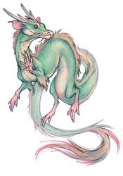 Smol Dragon Rat Snek critter by oomizuao