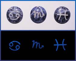 Zodiac Pendants - Water by ChimeraDragonfang