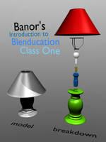 Blenducation class: lamp model by artislight