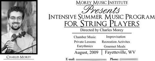 String Summer Camp Ad by artislight